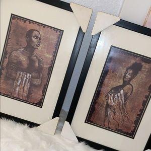 African American couple Portrait set